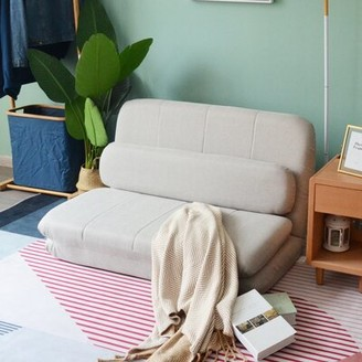 Latitude Run Sofa Bed Folding Lazy Floor Chair Color: Gray