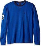 U.S. Polo Assn. Men's Long Sleeve V-Inset Crew Neck Knit Shirt