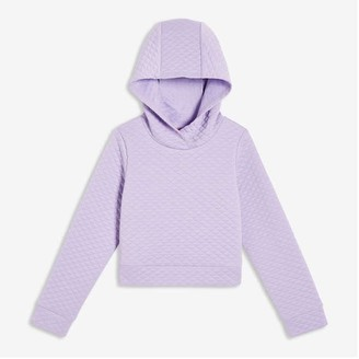 Joe Fresh Kid Girls' Quilted Hoodie, Lavender (Size S)