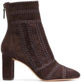 Alexandre Birman embroidered seam boots