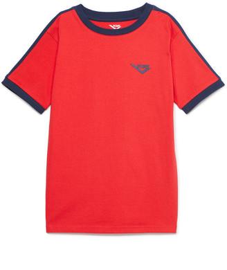 Pony Boys' Tee Shirts RACING - Racing Red Logo Ringer Crewneck Tee - Boys