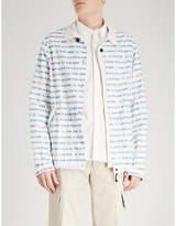 Sacai Slogan-print Cotton Jacket