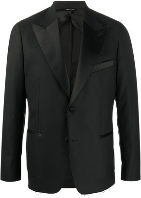 Reveres 1949 Raw-Edge Peak-Lapel Tuxedo Jacket