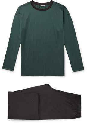 Zimmerli Striped Cotton-Jersey Pyjama Set - Men - Green