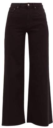 MM6 MAISON MARGIELA Cotton-blend Twill Wide-leg Jeans - Womens - Black