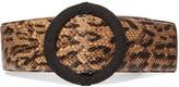 Saint Laurent Python-effect leather waist belt