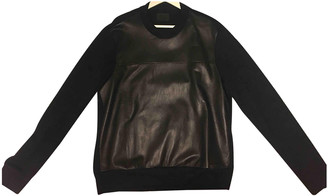 Prada Black Leather Knitwear & Sweatshirts