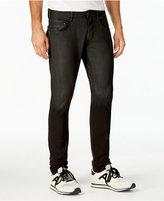 Armani Jeans Men's Slim-Fit Stretch Coated Black Jeans