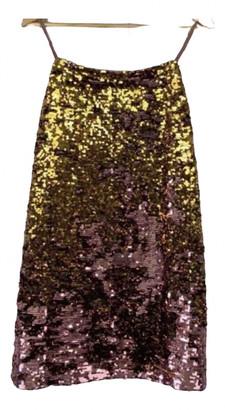 For Love & Lemons Gold Glitter Dresses