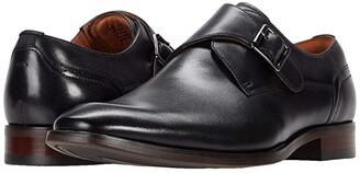 Florsheim Sorrento Plain Toe Single Monk Strap (Black Smooth) Men's Shoes