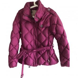 Burberry Purple Leather Coats