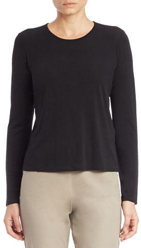 Eileen Fisher Long-Sleeved Silk Tee
