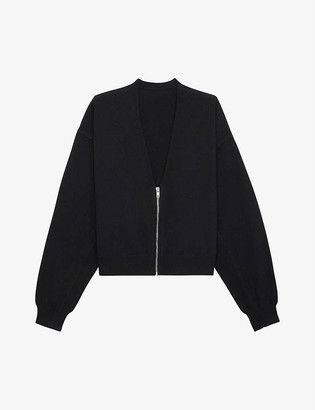 The Kooples Sport Zipped wool and cashmere-blend cardigan
