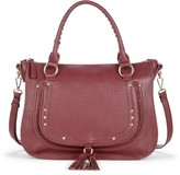 Sole Society Daytona Studded Whipstitch Satchel