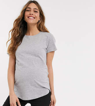 New Look Maternity girlfriend t-shirt in grey
