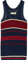 Etoile Isabel Marant Dully Striped Open-knit Tank - Storm blue