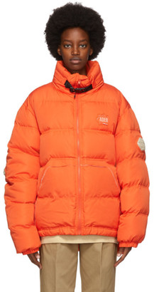 Ader Error Orange Down Mask Jacket