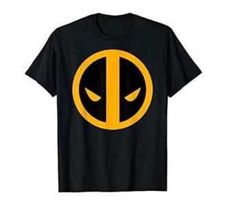 Marvel Deadpool Black and Orange Tonal Logo Graphic T-Shirt