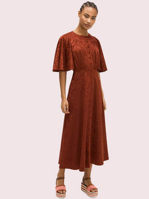 Kate Spade Scribble Flora Jacquard Dress