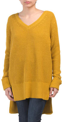 Juniors V-neck Pullover Tunic