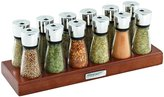 Cole and Mason Cole and Mason Wood Spice Rack with Glass Jars, 12-Jar, Brown