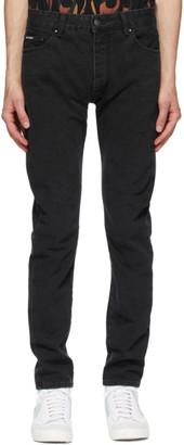 Palm Angels Black Logo 5 Pocket Jeans