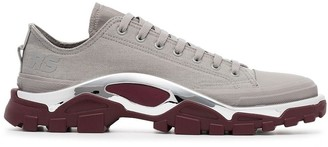 Adidas By Raf Simons grey and maroon red raf simons detroit sneakers
