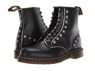 Dr. Martens 1460 Stud Core Applique (Black Rolled Vintage Smooth) Shoes