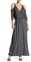 C&C California Cold Shoulder Maxi Dress