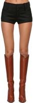 Saint Laurent Wool Grain De Poudre Mini Shorts