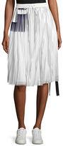 Public School Blaise Pleated Metallic Drawstring Skirt