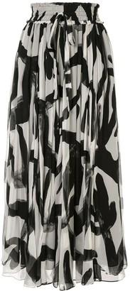 Lee Mathews Estelle maxi silk skirt