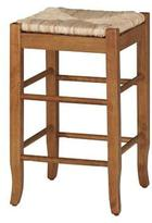 Boraam 24 in. Oak Square Rush Stool