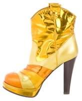 Bottega Veneta Metallic Platform Boots