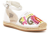 Kenneth Cole Reaction Girls' Swell Floral Embroidered Espadrille Sandal