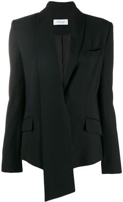 Derek Lam 10 Crosby Telma Asymmetrical Essential Crepe Shawl Collar Blazer