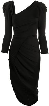 Elisabetta Franchi Ruched Jersey Dress
