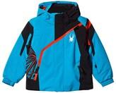 Spyder Blue and Black Mini Challenger Ski Jacket