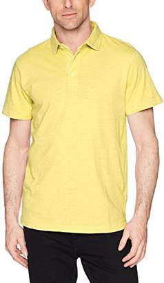 French Connection Men's Short Sleeve Solid Color Regular Fit Cotton Polo Shirt