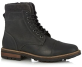 Mantaray Black Leather Lace Up Boots