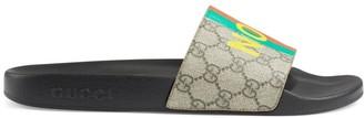 Gucci Men's Fake/Not Print Pursuit GG Supreme Slide Sandals