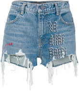 Alexander Wang denim 'No After Party' shorts - women - Cotton - 24