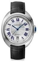 Cartier Clé de Stainless Steel & Alligator Strap Watch/40MM
