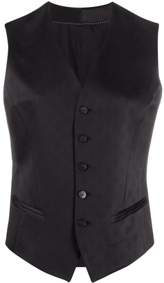 Neil Barrett Diamond Patterned Waistcoat