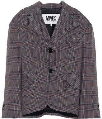 MM6 MAISON MARGIELA Checked wool-blend jacket