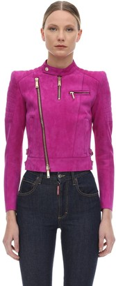 DSQUARED2 Suede Biker Jacket