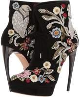 Alexander McQueen Medieval Embroidered Horn Heel Bootie Women's Boots