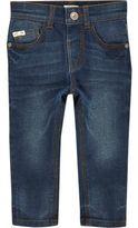River Island Mini boys dusty blue wash Sid skinny jeans