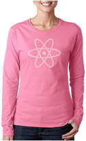 LOS ANGELES POP ART Los Angeles Pop Art Atom Women's Long Sleeve WordArt Graphic T-Shirt