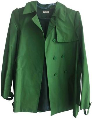 Miu Miu Green Trench Coat for Women